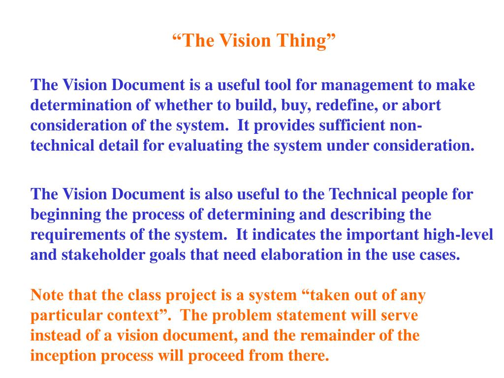 """""""The Vision Thing"""""""