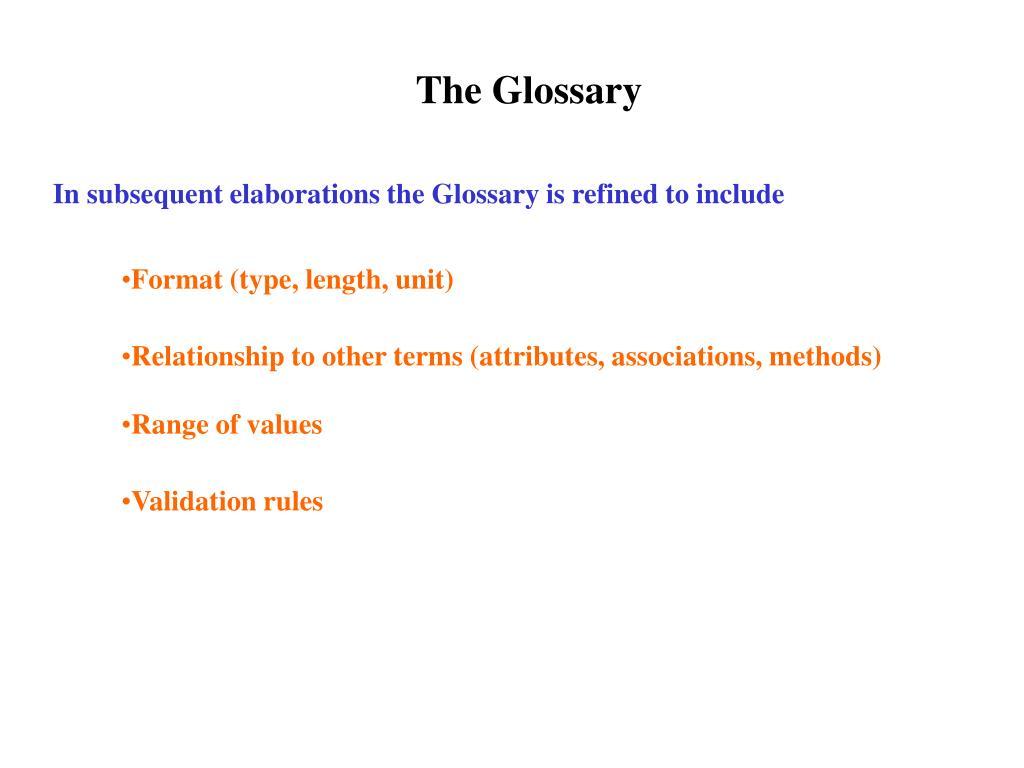 The Glossary