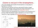 ozone is not just in the stratosphere