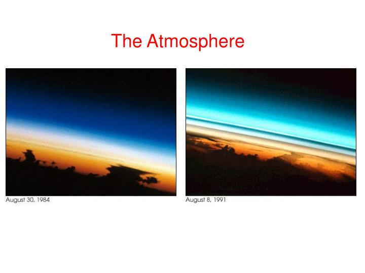 the atmosphere n.