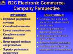 b2c electronic commerce company perspective