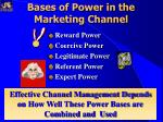 bases of power in the marketing channel