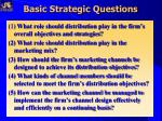 basic strategic questions