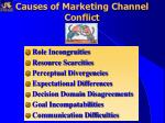 causes of marketing channel conflict