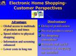 electronic home shopping customer perspectives