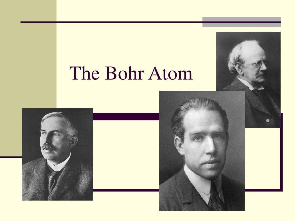 the bohr atom l.