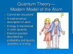 quantum theory modern model of the atom
