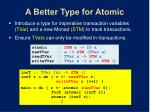 a better type for atomic