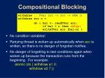 compositional blocking
