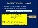 concurrency in haskell