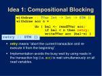 idea 1 compositional blocking