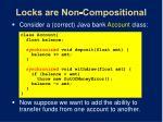 locks are non compositional