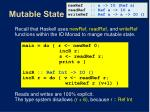 mutable state