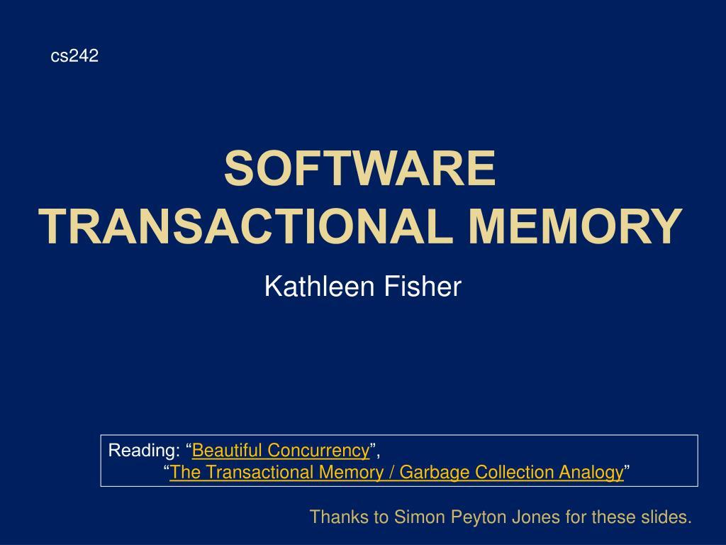 software transactional memory l.