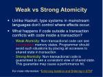 weak vs strong atomicity