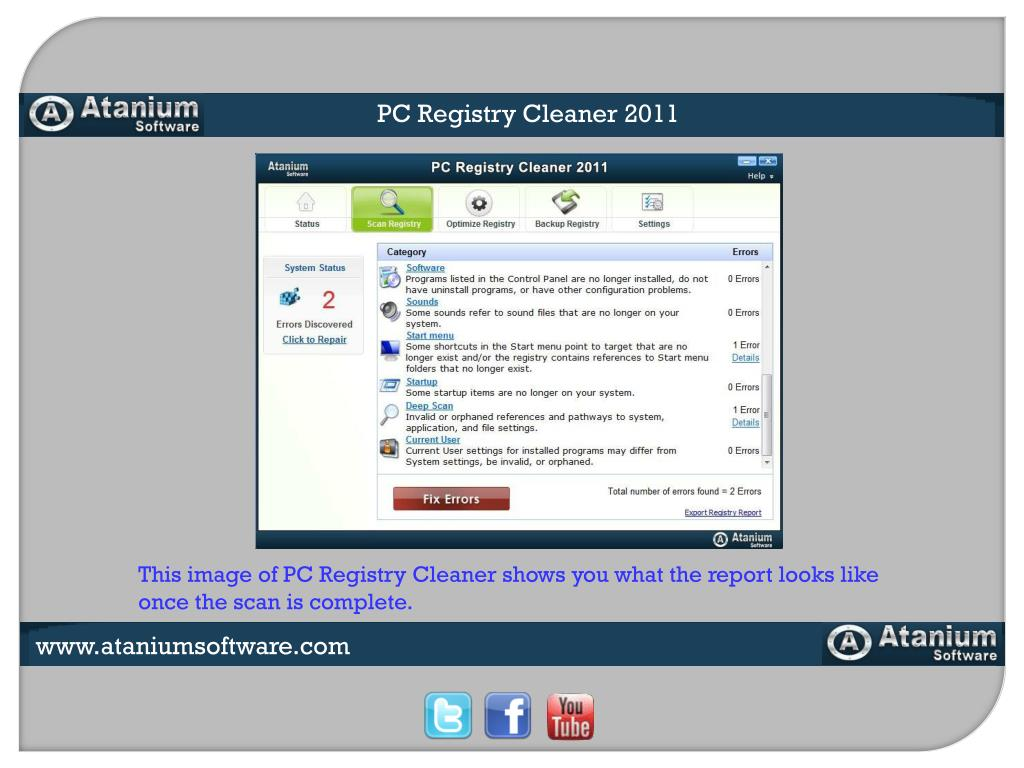 PC Registry Cleaner 2011