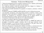 summary transaction management