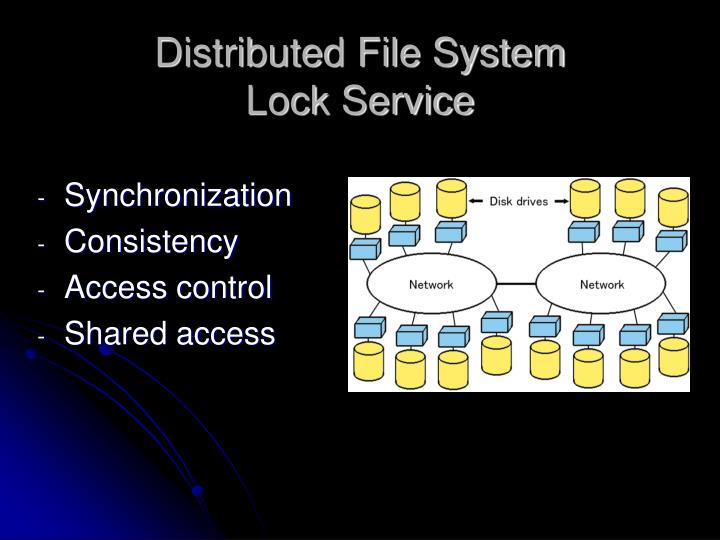 Distributed file system lock service