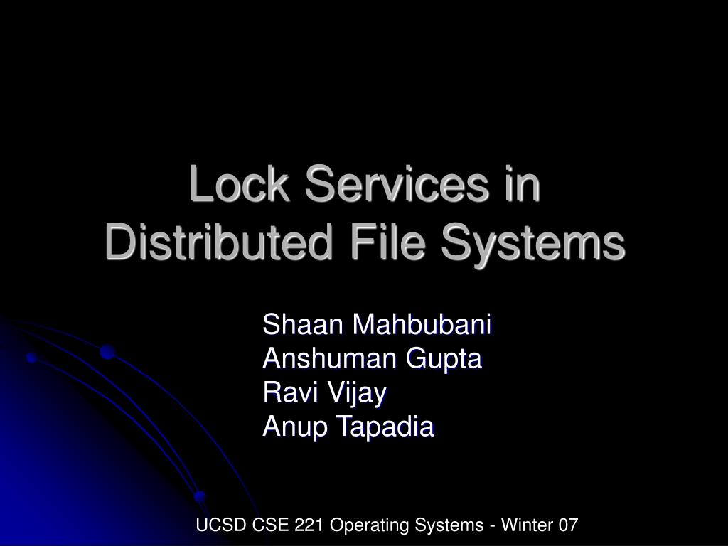 Lock Services in
