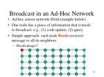 broadcast in an ad hoc network