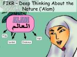 fikr deep thinking about the nature alam