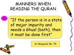 manners when reading the quran13