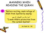 manners when reading the quran19