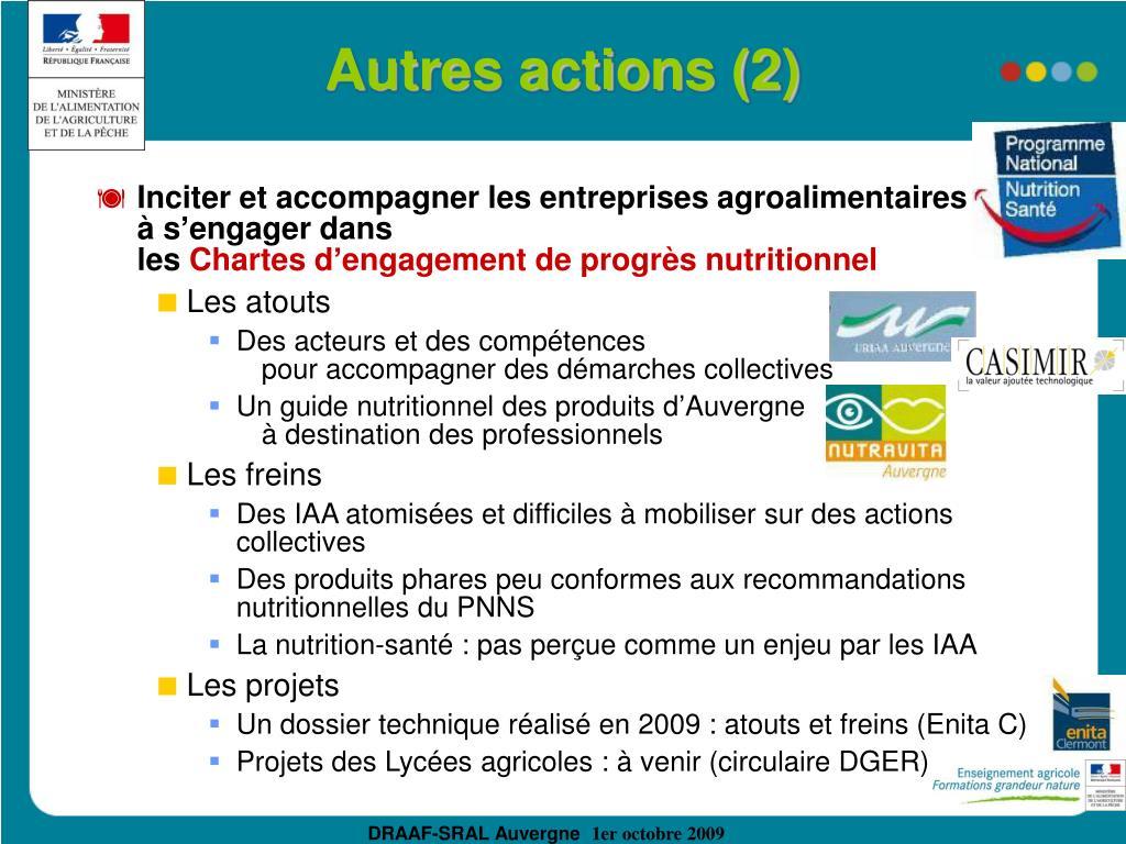 Autres actions (2)