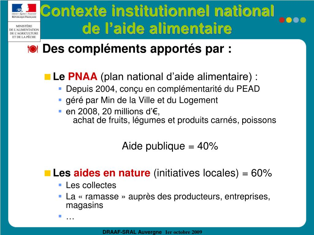 Contexte institutionnel national