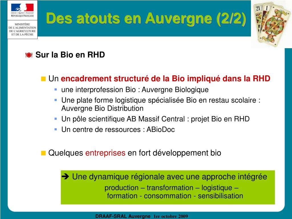 Des atouts en Auvergne (2/2)