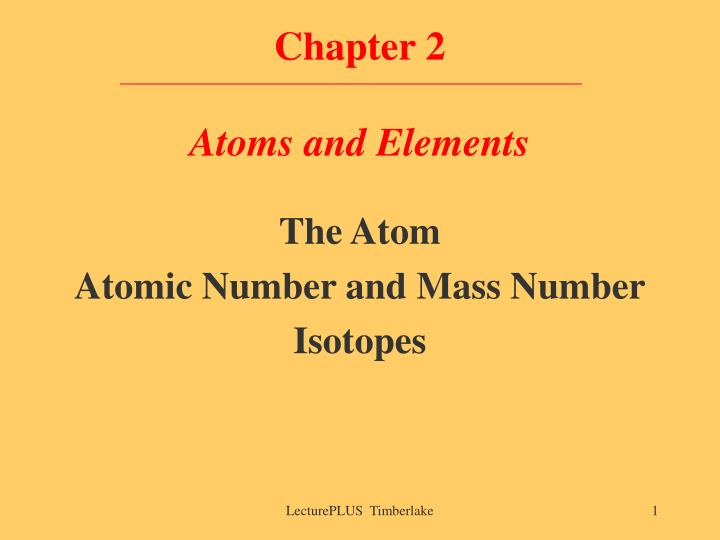 chapter 2 atoms and elements n.