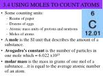 3 4 using moles to count atoms