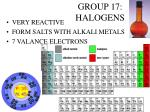 group 17 halogens