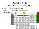 group 3 12 transition metals