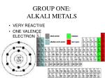 group one alkali metals