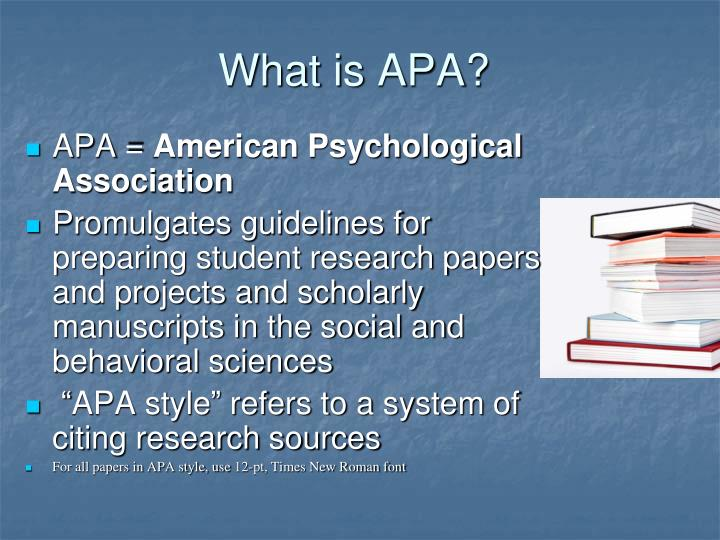 What is apa