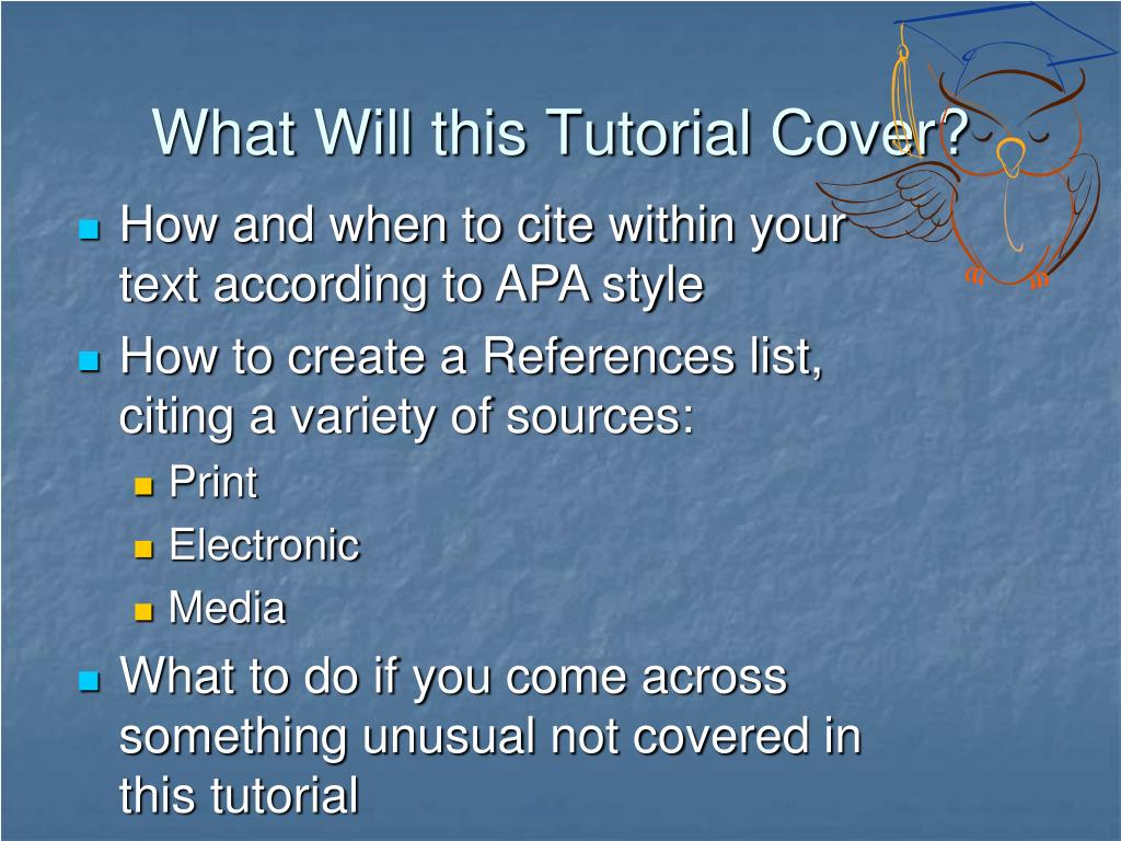 What Will this Tutorial Cover?