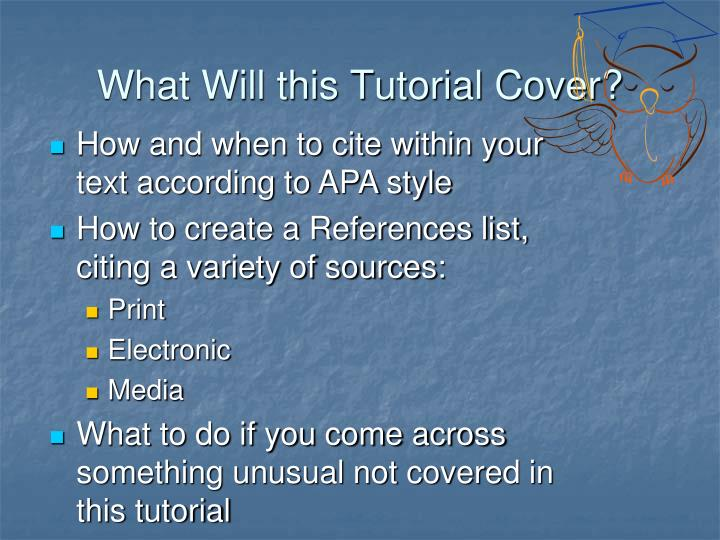 What will this tutorial cover