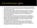 ca and human rights