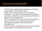 ca and mental health