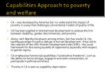 capabilities approach to poverty and welfare