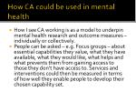 how ca could be used in mental health