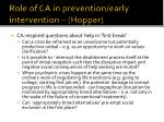role of ca in prevention early intervention hopper