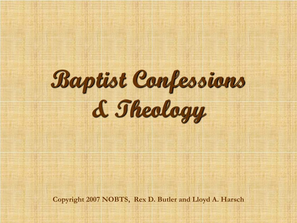 baptist confessions theology l.