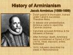 history of arminianism