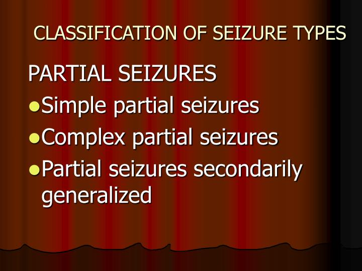 Classification of seizure types