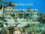 deep seas cont