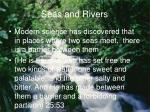 seas and rivers