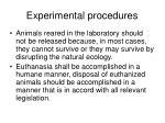 experimental procedures11