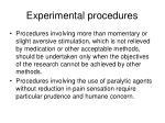 experimental procedures9